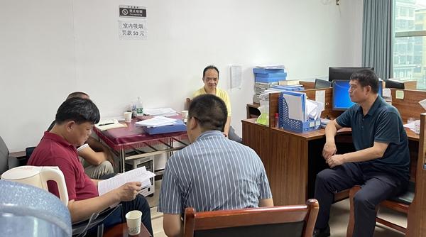 新化县党史学习教育第六巡查组到经发集团巡回指导工作